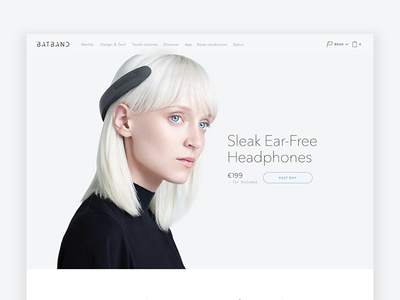 Batband - Sleek Ear-Free Headphones web packaging art direction headphones future ui ux design product