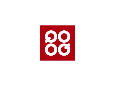 QOOQ identity brand square stove pans reverse cookbook ambigram logo cooking cook