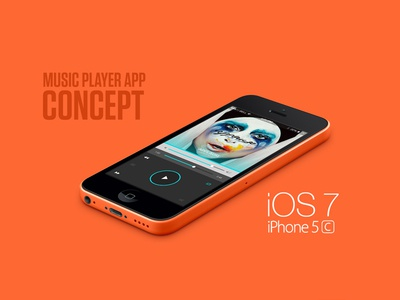 iPhone5C - Music Player App