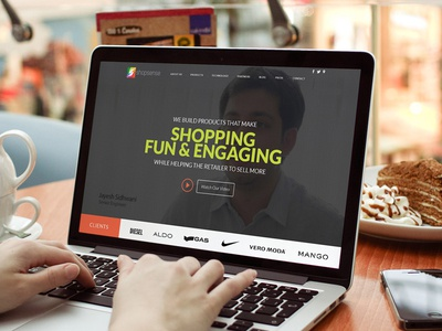 Website Landing Page - Shopsense