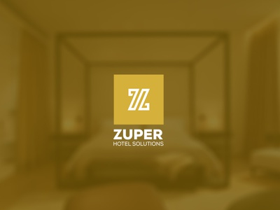 Zuper - Hotel Solutions  flat ui icondesign illustration brand identity web design logo design graphic design user interface adroitgrafik