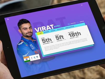 User Profile - Sports Portal india sports graphicdesign webdesign design ux ui
