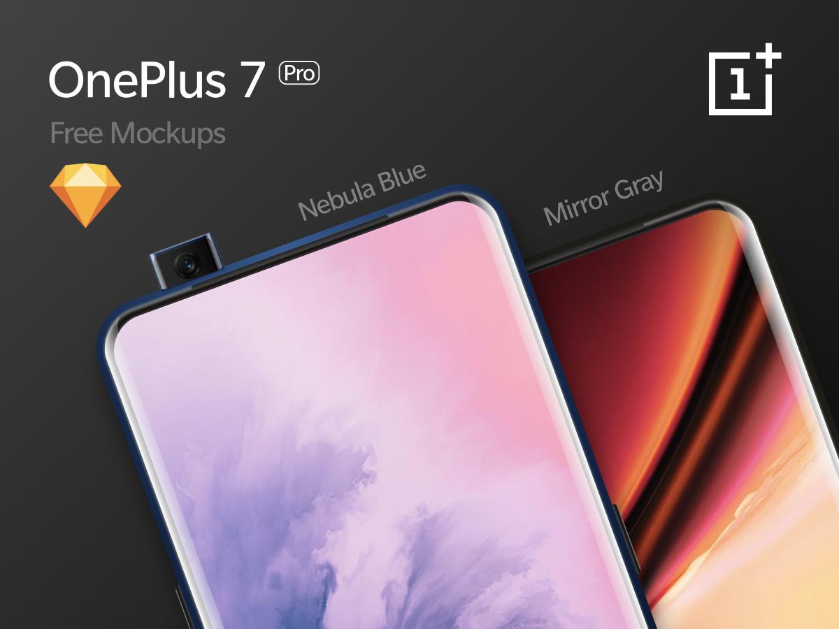OnePlus 7 Pro - UHQ Mockups [Free Download] sketch android oneplus ui freebies mockups
