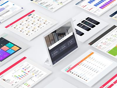 Power BI Dashboards - 2019 ui design gamification dashboard ui flat ui web design microsoft powerbi