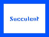 Suuclent Typeface