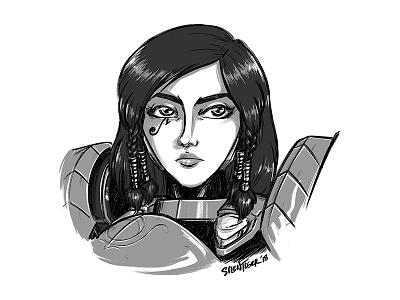 Pharah fanart overwatch pharah doodle sketch drawing illustration silentiger