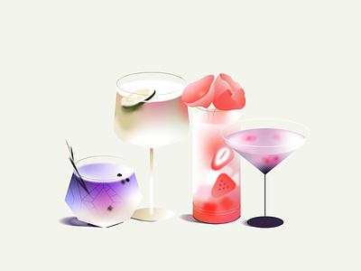 🍸 app food delivery ui coctail beverage drinks design vector colorful illustration