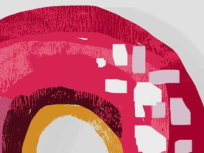 Huge Donut:) sketch brush sugar dunkindonuts pink sweet donut food illustration texture photoshop