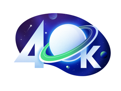 40K - Thanks Dribbblers! dribbble 40k earth space illustrator gradient color design illustration vector art