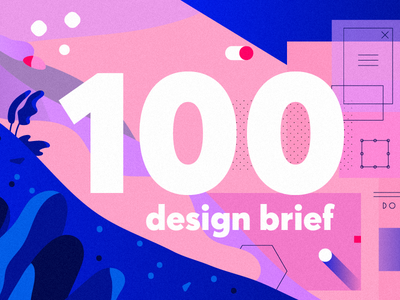 Design Brief #100 product design research ux web mobile organic top articles illustration ui newsletter brief