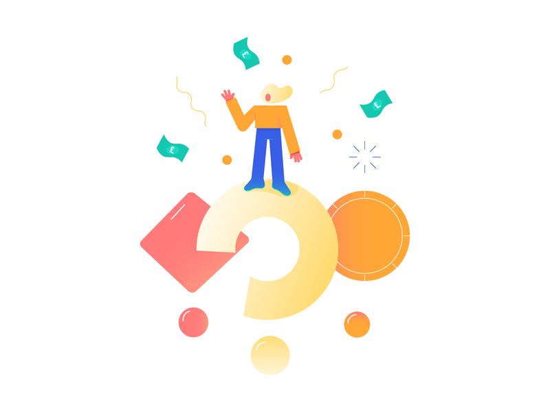 Pockee Illustration Series vector minimal fintech finance family kids character banking app illustration