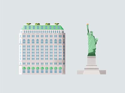 New York city green minimal clean usa statue building new york statue of liberty manhattan