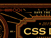 CSS Dev Conf - Save the Date Banner