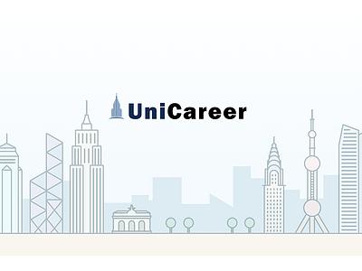 UniCareer iOS/Android/Web Design building hongkong shanghai newyork buildings web digital mobile android ios