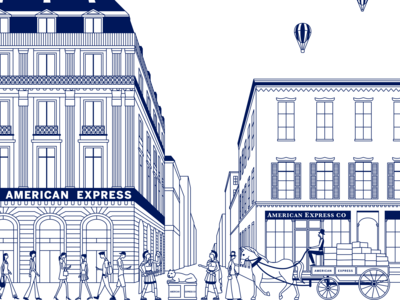 Illustration concept for American Express