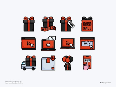 Black Friday Icon set icon set black friday sale black friday shopping sale branding app design color line website vector symbol illustration icon
