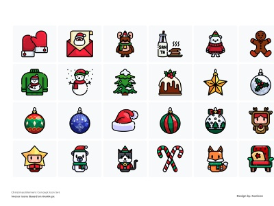 25 Free Christmas Icons colorful iconset icons free download event xmas christmas freebie free download outline color line website vector symbol illustration icon
