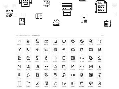100 ~ minimal free icon pack illustration logo symbol freebie interface download free icon web ux ui