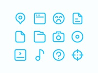 100 Free Essential icon set for designer