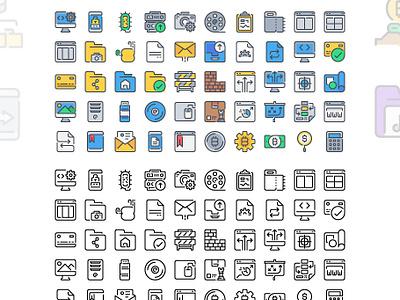 50 Free simple line icons download app free vector symbol website ui color line outline illustration icon