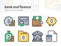 Simple Line icon - Bank and Finance icon set