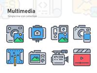 Simple Line icon - Multimedia