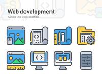 Simple Line icon - Web development