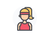 Sporty Woman Avatar Character