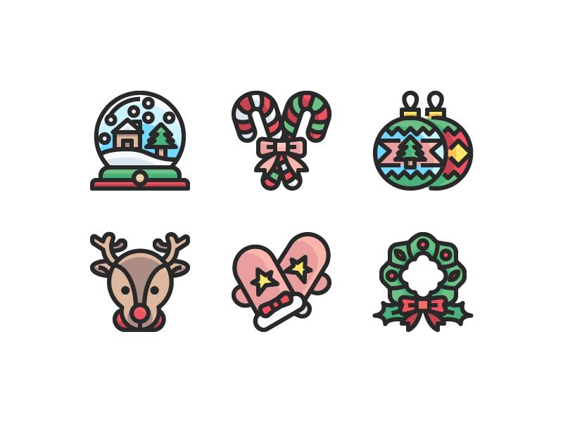 Christmas Icon set logo vector website symbol illustration icon