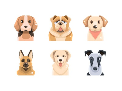 Are you a dog lover? design character dogs dog vector symbol illustration icon