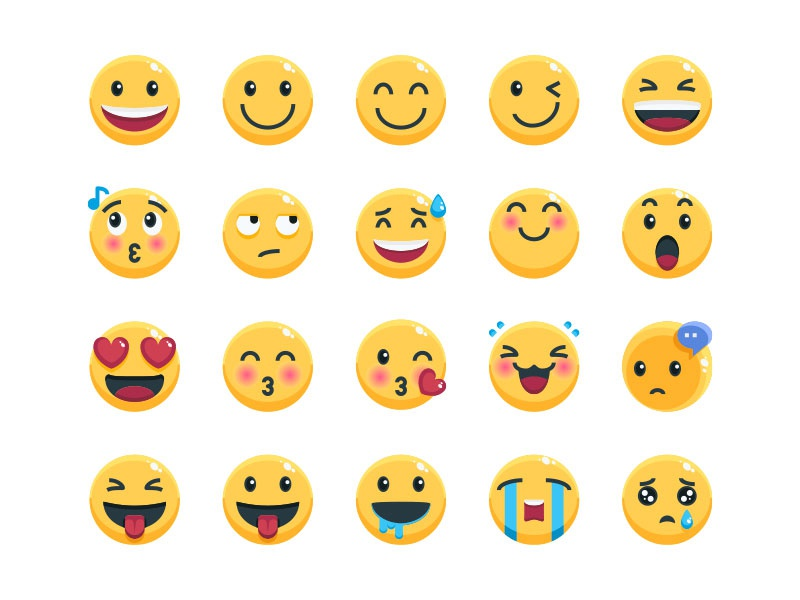 Emoji emotional character emojis emoji set emoji avatar vector website symbol illustration icon
