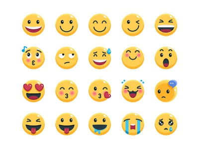 Emoji emotional character emojis emoji set emoji avatar vector website symbol illustration icon