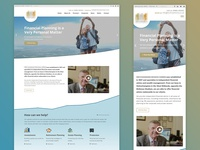 Website for a financial services company