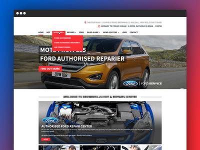 Mockup for a Garage Website