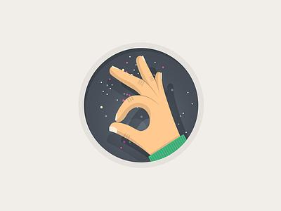 'You ar OK' badge badge icon flat ok