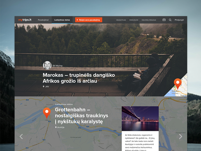 mytrips.lt travel web design flat trips clean ui ux minimal