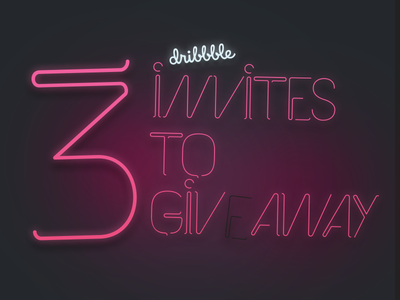 3 dribbble invites giveaway player draft prospect invites giveaway dribbble typography led light