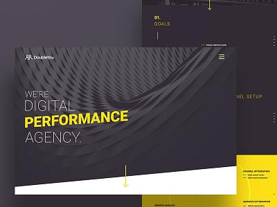DoubleYou website design web ux interaction digital corporate homepage website performance yellow dark