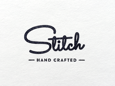 Stitch Logo handcrafted logo stamp lettering typography