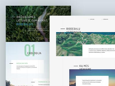 Biofuel website design design visual nature layout grid green fuel ecology eco corporate biofuel