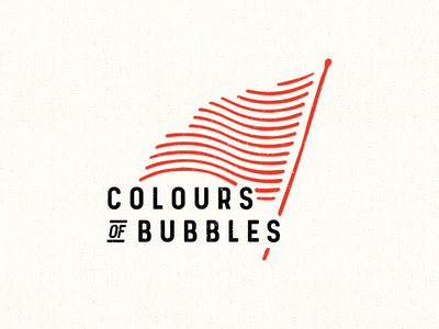 WIP Colours of Bubbles logo typography stamp flag texture grunge logo rock band