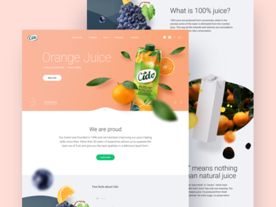 WIP Cido landing page clean minimal depth layers parallax colourful bright wip landing page juice cido