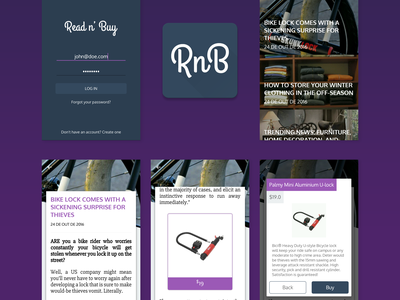 Read n' Buy - Open Source Android App open source ux ui shop blog news ˜material design˜ app android