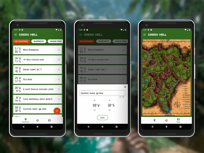 Green Hell - Unofficial Companion App android app companion game green hell amazon open source app android