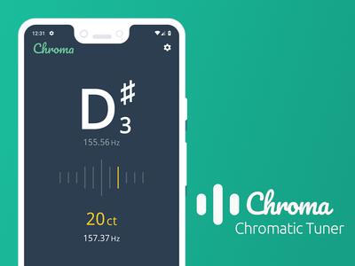 Chroma   Chromatic Tuner App screenshot app chromatic tuner tuner android andorid app mobile app open source