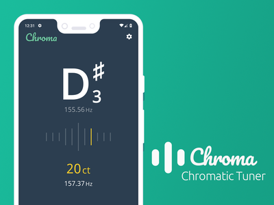 Chroma | Chromatic Tuner App screenshot app chromatic tuner tuner android andorid app mobile app open source