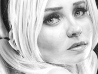 Emily Browning Pencil Drawing