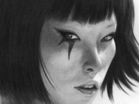 Faith from Mirrors Edge Pencil Drawing