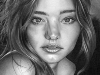 Miranda Kerr Pencil Drawing