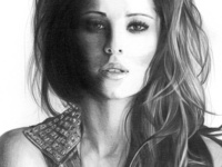 Cheryl Cole Pencil Drawing